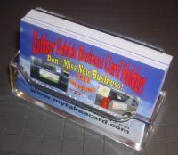 24 Clear Acrylic Desk Top Business Card Holder