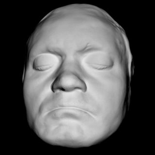 Ludwig van Beethoven 1812 Life Mask Face Life Cast Light Weight White