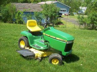John Deere LX188 Riding Mower Lawn Tractor 48 Deck 17hp Snow Plow