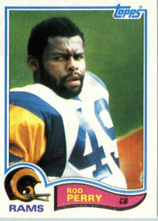 1982 Topps Football 382 Rod Perry Los Angeles Rams