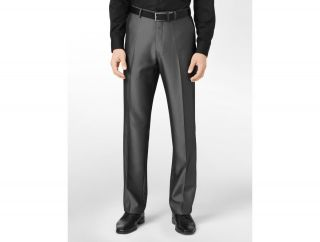 Calvin Klein Body Slim Fit Herringbone Suit Pants Mens