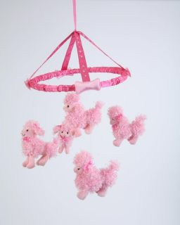 Poodle Dog Mobile for A Girl or Babies Room by Lucy Locket Baby