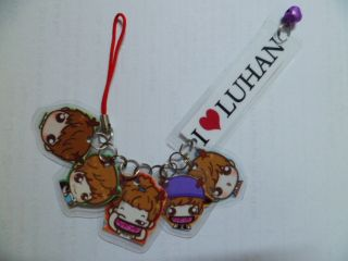 KPOP Exo M Luhan Cute Chibi Cartoon Phone Strap 1 Exo