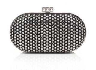 Judith Leiber Crystal Studded Alleta Clutch Minaudiere Bag $2495