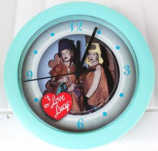 Lucille Ball I Love Lucy Paris Gowns Wall Clock New in Box