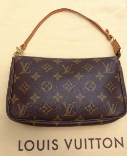 LOUIS VUITTON POCHETTE ACCESSORIES POUCH MONOGRAM CLUTCH PURSE BAG