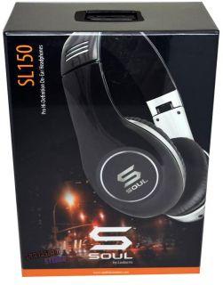 Soul by Ludacris SL150 High Definition on Ear Headphones Black Chrome