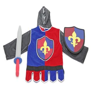 Knight Outfit Role Play Uniform Knights Kids Play Costume Foam Sword