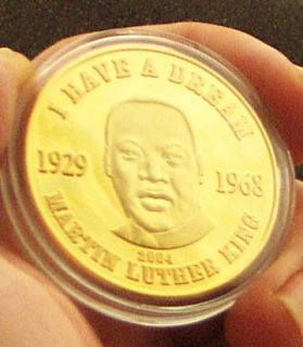 Martin Luther King 24K Gold Plated Commemorative Coin