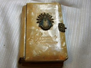 Antique Prayer Book First Communion Celluloid Our Lady Lujan