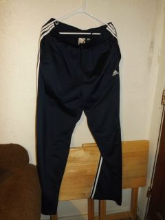 Mens Athletic Adidas Navy Blue Pants Size XL