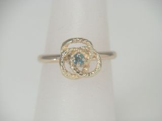Gold Natural Russian Alexandrite Solitaire Love Knot Ring