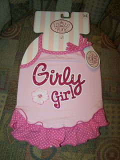 LuLu Pink Dog Puppy Clothes Outfit Dress Girly Girl Pink Glitter