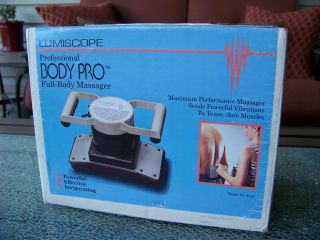 Lumiscope Body Pro Professional 2 Speed Full Body Massager Hand Held