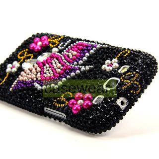 Luxmo Butterfly Diamond Bling Hard Case Cover for Samsung Galaxy S3
