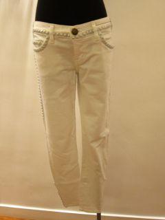 BNWT Current Elliott White Studs Crop Skinny Jeans Sz 27