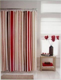 Flo Stripe Fabric Shower Curtain M Style 70 x 72 Classy $45