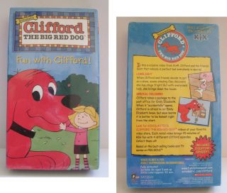 Clifford the Big Red Dog FUN WITH CLIFFORD VHS Brand New KIX Cereal