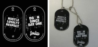 Cena Dog Tag Pendant necklace Chain Gain Hustle Loyalty Respect Dogtag