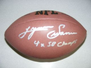 LYNN SWANN AUTOGRAPHED WILSON NFL FOOTBALL PITTSBURGH STEELERS