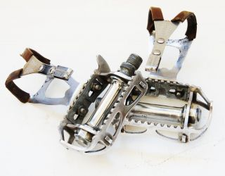 Lyotard pedals Made in France removed from 1960s paris sport bike rare