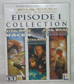 Lucas Arts Star Wars Episode 1 Collection PC games Pod Racer The