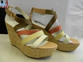 Womens Lavoy White Multi Fabric Espadrilles Sandals 9 M Shoes