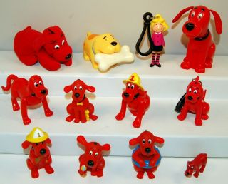 12 Clifford the Big Red Dog PVC Action Figure Toy Lot Emily Elizabeth