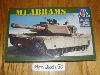 Italeri M1 Abrams Tank Model Kit 1 72 Scale 2001 7001 No Instructions