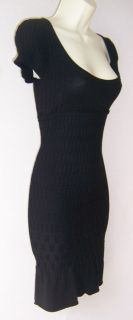 MSSP Black Short Sleeve Scoop Neck Sweater Versatile Cocktail Dress M