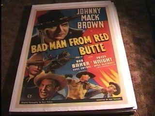 Bad Man Butte Movie Poster 40 Johnny Mack Brown Linen