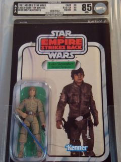Star Wars Vintage Series Luke Skywalker Bespin AFA 85