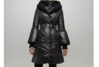 Mackage Ace Long Down Coat with Knit Collar