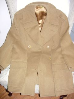 WWII 1942 US Army Officers Short Coat Mackinaw