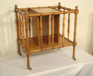 Furniture Company Faux Bamboo Canterbury Magazine Rack Stand