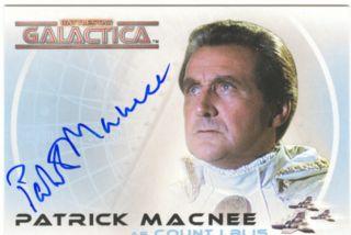 The Complete Battlestar Galactica Autograph A10 Patrick Macnee