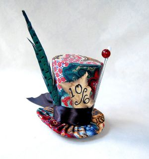 Mad Hatter Mini Top Hat Goth Lolita cosplay party fascinator steampunk
