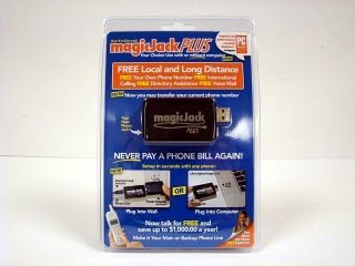 2012 Magic Jack Plus VOIP, New in Box, 1 Year of FREE Service FREE