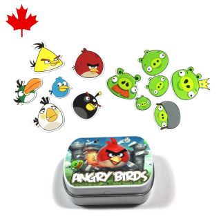 12pcs Angry Birds Fridge Magnets Android Phone Apple iPhone 4S 3G iPad
