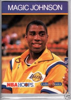 Magic Johnson 1990 Hoops Collect A Books