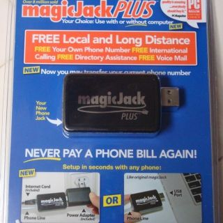 MagicJack PLUS USB Phone Jack Magic Majicjack Majic VOIP 1 YEAR