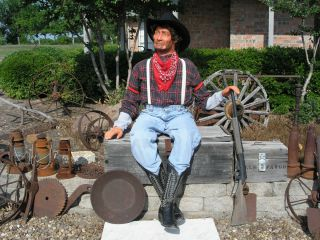 Lifesize Poseable Old West Cowboy Mannequin Dummy Doll
