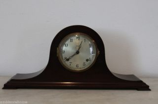 REDUCED Ansonia 1929 Mantel Clock Mahogany Carved Antique