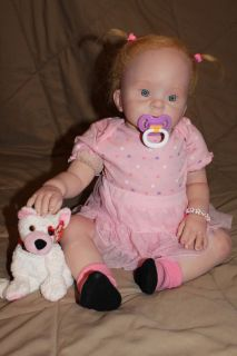 Reborn Baby Girl Toddler OOAK Art Doll Valentine Cutie Donna RuBert