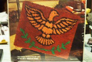 MALINA AMERICAN EAGLE LATCH HOOK KIT SEALED IN SHRINK WRAP 20 X 27 NO