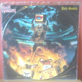 Iron Maiden Holy Smoke 12 inch Picture Vinyl 1990 RARE