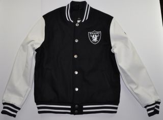 Majestic Athletic Melton Wool Varsity Jacket Oakland Raiders Football