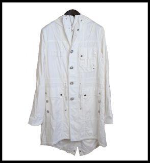 295 Ralph Lauren Sports Rain Jacket White Hooded Coat