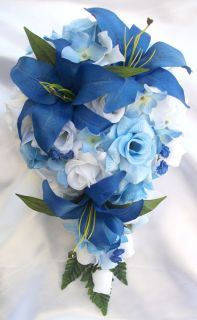 10 pieces Bridal Bouquet Wedding Silk Flower Bride Decoration Package