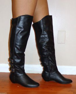 MADDEN GIRL BY STEVE MADDEN NEW BLACK ZEXTOR KNEE HIGH BOOTS SHOES
